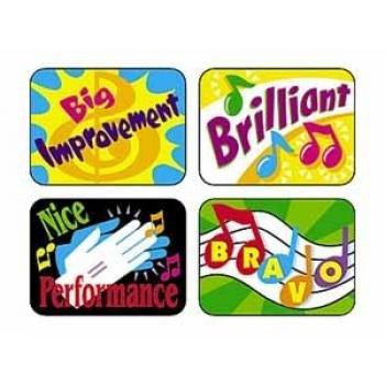 Trend Enterprises Inc. Music Rewards Applause Stickers, 100 ct.