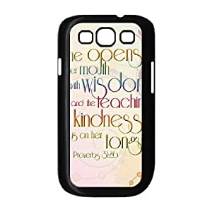 Samsung Galaxy S3 9300 Cell Phone Case Black strength and dignity 001 PW1516593