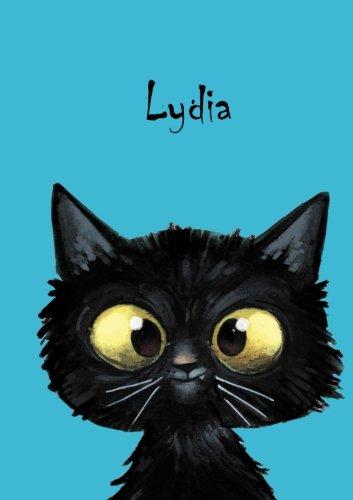 lydia-personalisiertes-notizbuch-din-a5-80-blanko-seiten-mit-kleiner-katze-auf-jeder-rechten-unteren-seite-durch-vornamen-auf-dem-cover-eine-coverfinish-ber-2500-namen-bereits-verf