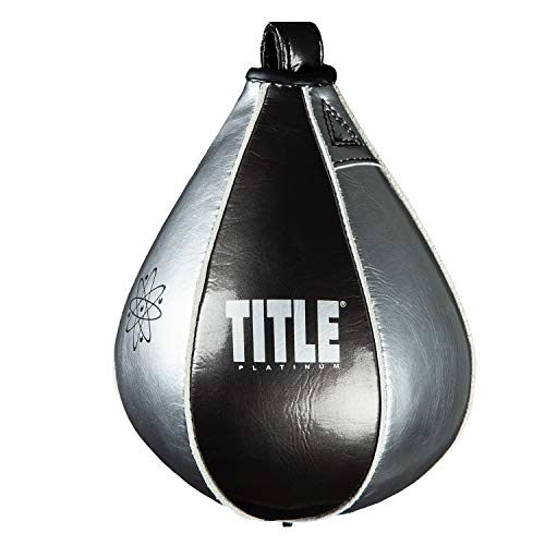 Title Boxing Platinum Atomic Speed Bag, Black/Platinum, 4