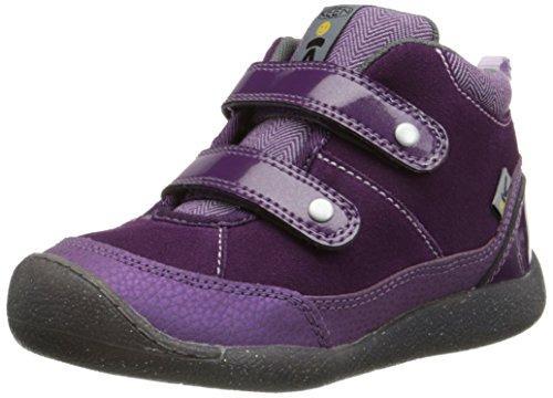 KEEN Tris High Top Shoe , Wineberry/Gargoyle, 9 M US Toddler