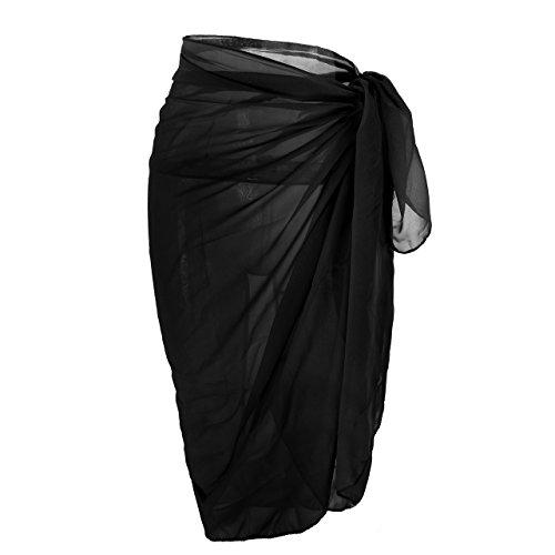 Black Cover Up Skirt - Faleto Womens Pareo Wrap Bikini Cover up Womens Skirt Swimsuit Swimwear Black