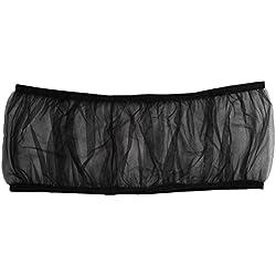 UEETEK Bird Cage Skirt Mesh Bird Seed Catcher Net Cage Cover Size L (Black)