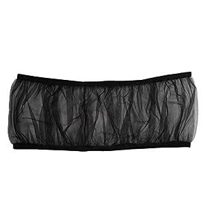 UEETEK Bird Cage Skirt Mesh Bird Seed Catcher Net Cage Cover Size L (Black) 43