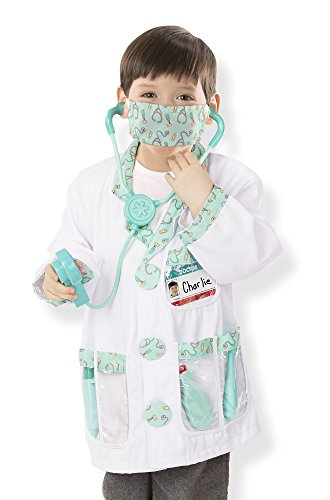 Costumes (Melissa & Doug Doctor Role Play Costume Dress-Up Set (7)