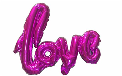 Michael Palmer Ligatures Love Letter Foil Balloon Anniversary Wedding Valentines Birthday Party Decoration Champagne Cup Photo Booth Props Mini Rose Red