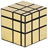 TEC TAVAKKAL Magic Cube Set Fluctuation Angle Puzzle Cube Skewb Speed Magic Cube Puzzle 3x3x3 Mirror Magic Cube Toys-Golden and Silver