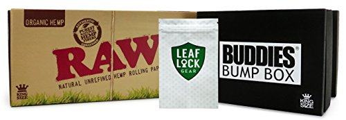 Bundle - 3 Items - RAW Organic King Size Pre-Rolled Cone 800 Pack (King Size), Buddies King Size Bump Box Cone Filler with Leaf Lock Gear Smell Proof Bag by RAW, Buddies, Leaf Lock Gear