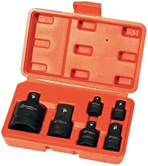 Donnklik Impact Socket Adapter/Reducer Set of 6 Pieces | 1/4, 3/8, 1/2, 3/4 in, Ratchet Drive Socket, Chrome Vanadium Steel