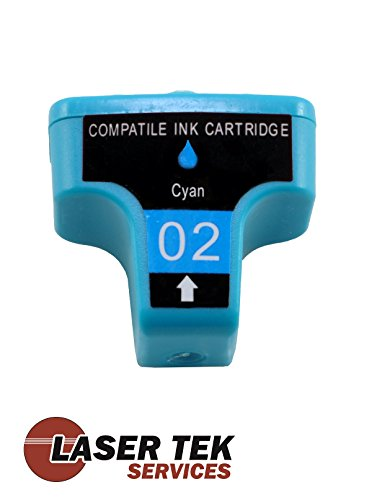 02 Black Ink Cartridge Refill - Laser Tek Services® Compatible HP 02 Ink Cartridge Replacement for the HP C8771WN (Cyan, 1-Pack)