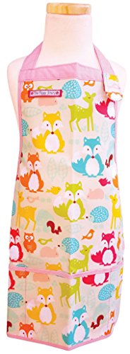 (The Piggy Story 'Fox & Woodland Animals' Child's Fun Time Apron for Arts, Crafts and Cooking)