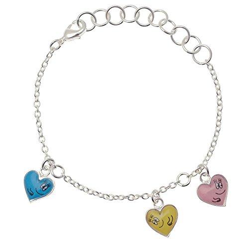 Pixi bijoux - 8212 - Barbapapa - coloured hearts silvery bracelet