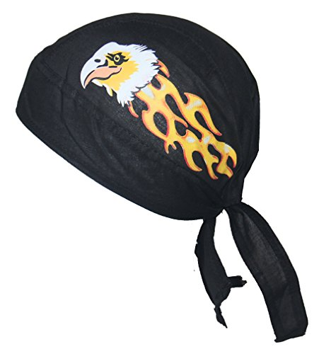 Set of 4 Eagle Flame Service Skull Cap Head Wrap Do-rag Chef Cook Medical Field by Hav-A-Danna