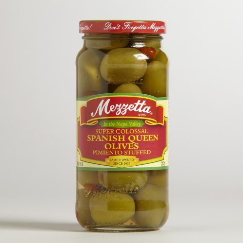 Mezzetta Super Colossal Spanish Queen Olives 10 oz. (Pack of 6)