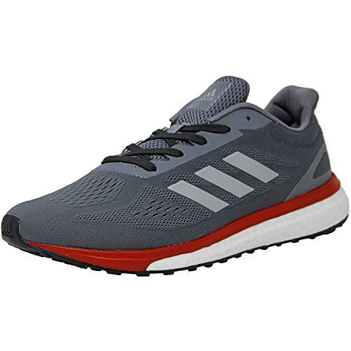 adidas Men's Response Lt Ankle-High Fabric Running Shoe - 10.5M - Grey/Silver Metallic/Scarlet