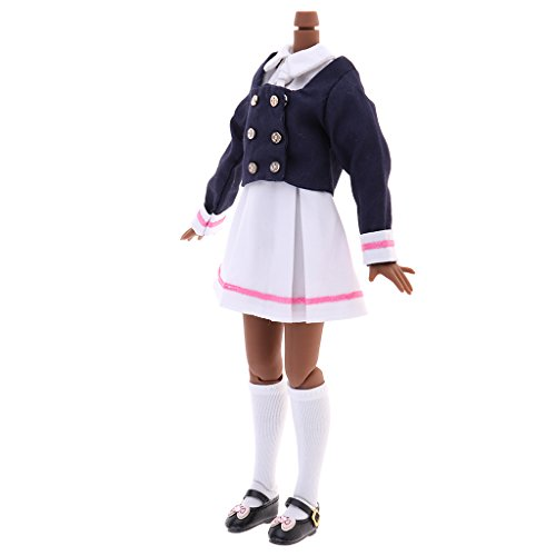 MagiDeal Excellent Workmanship Doll DIY Accessory Winter School Uniforms Set And Doll Nude Body Model For 1/6 Blythe Dolls