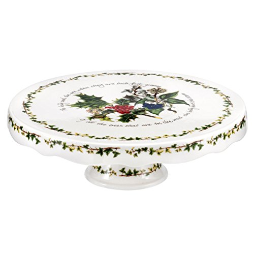 Portmeirion Holly and Ivy Footed Cake Stand (Holly Cake)