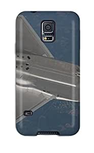 Galaxy S5 Case Cover - Slim Fit Tpu Protector Shock Absorbent Case (aircraft47)