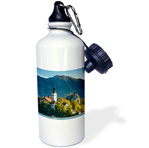 3dRose Danita Delimont - Churches - St. Marys Church of the Assumption, Lake Bled, Slovenia - 21 oz Sports Water Bottle (wb_277937_1) by 3dRose