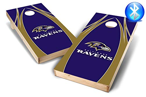 PROLINE NFL Baltimore Ravens  2'x4' Cornhole Board Set with Bluetooth Speakers - Edge Design