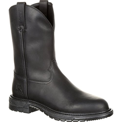 - Rocky Men's Original Ride FLX  Western Boot, Black Oil, 12 Medium US
