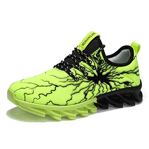 UMYOGO Mens Casual Walking Shoes Outdoor Sport Sneakers Breathable Fashion Shoe Green