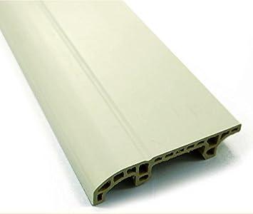 Wpc Sockelleiste 2 M Pvc Weiss Und Eiche Wood Plastic Composite