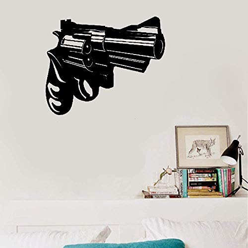 - Woape Removable Vinyl Decal Art Mural Home Decor Wall Stickers Gun Revolver Gangster Ghetto Living Room