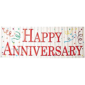 amazon com happy anniversary banner garland bunting sign party