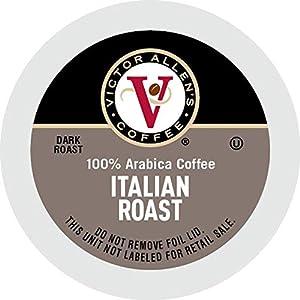 Well-Being-Matters 41pMeS-sqeL._SS300_ Victor Allen's Coffee K Cups, Italian Roast Single Serve Dark Roast Coffee, 80 Count, Keurig 2.0 Brewer Compatible