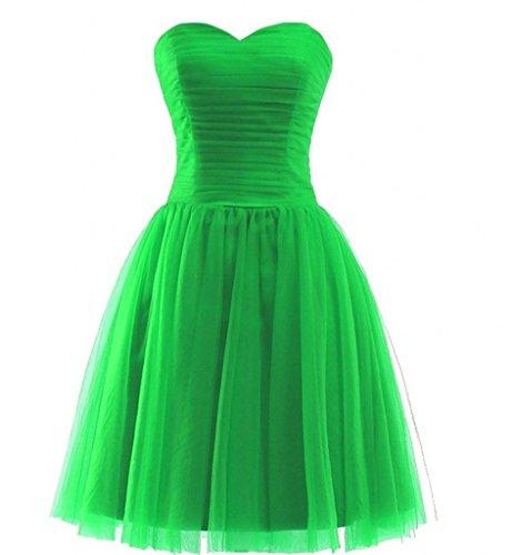 Braut Promkleider Gruen Tuell La Abschlussballkleider Festlichkleider mia Apfel Cocktailkleider Linie Mini A Kurz Abendkleider 6xZ5Aqw