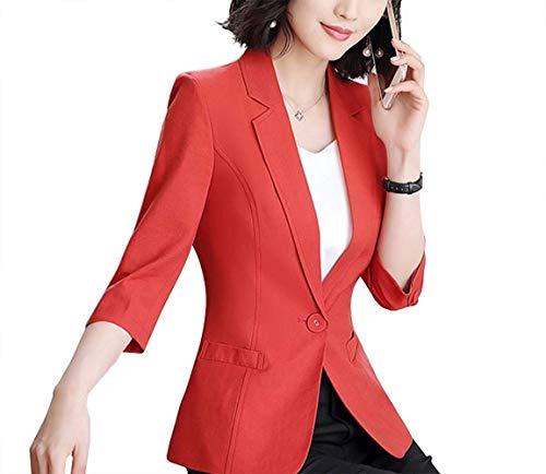 Cappotto Classiche Autunno Da Fashion Donna Alla Giacca Chic Bavero Tasche Fit 3 Solidi Tailleur Blazer 4 Colori Slim Casual Manica Con Primaverile Moda Rot q88nSwBvY