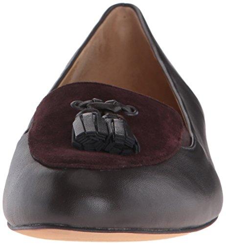 Brown Trotters Cognac Ballet Flat Caroline N Women's Black Dark Suede 6 US P1Pvwp6nq