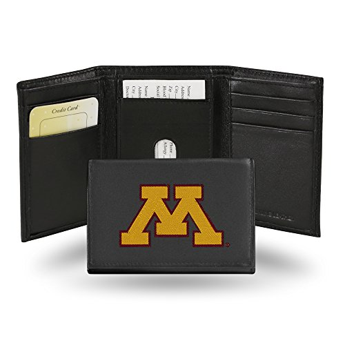 - Rico Industries NCAA Minnesota Golden Gophers Embroidered Leather Trifold Wallet