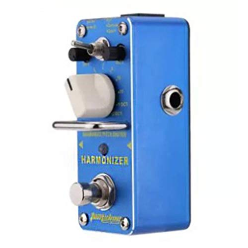 Harmonist Guitar - Harmonizer Harmonist Pitch Shifter Electric Guitar Effect Pedal Mini Single Effect with True Bypass Blue