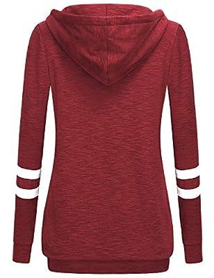 MOQIVGI Long Sleeve Shirt Lightweight Pullover Sweatshirt Hoodie Kangaroo Pocket