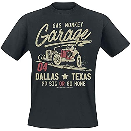 Gas Monkey Garage Go Big Or Go Home T-Shirt Black 41pMfItDh1L