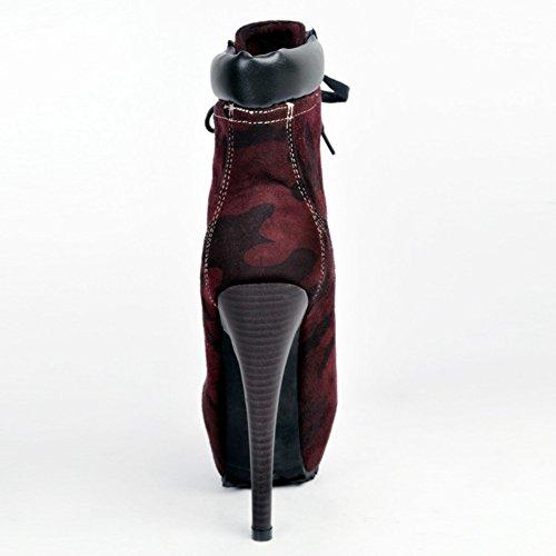 Kolnoo - Pantuflas de caña alta Mujer burdeos