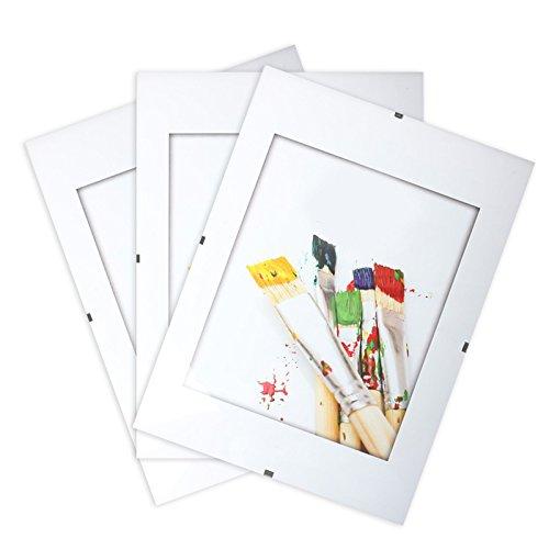 LCD Set di 3Sotto Vetro fotografica senza cornice A421x 29.7cm–La vetro in plexi il Rende infrangibile–Quadro a clip–Spessore 4.5mm