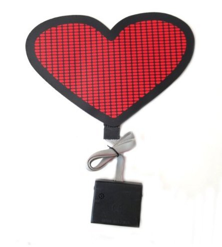 - Sound Activated Flashing Red Heart LED Panel with Sensor