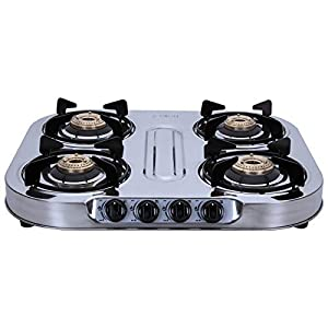 Elica 4 Burner Stainless Steel Gas Stove (INOX 604 SS)