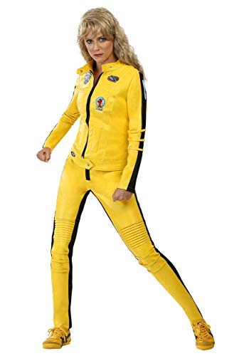 Kill Bill Beatrix Kiddo Motorcycle Suit Costume X-Small Yellow -
