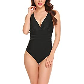 - 41pMg6GAc4L - Elaver Sexy Tankini Swimsuit Plus Size One Piece Swimwear For Women