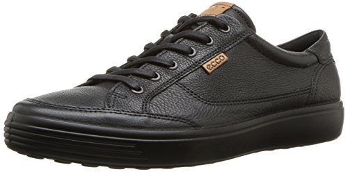 ECCO Men's Soft 7 Sneaker, Black, 42 M EU (8-8.5 US)