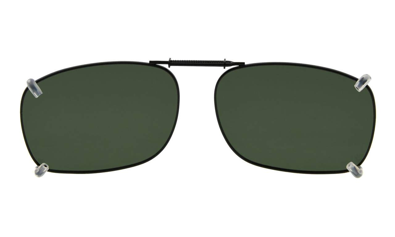 Eyekepper Metal Frame Rim Polarized Lens Clip On Sunglasses 54 37MM