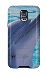 High Grade Claudia Phillips Flexible Tpu Case For Galaxy S5 - Dolphins
