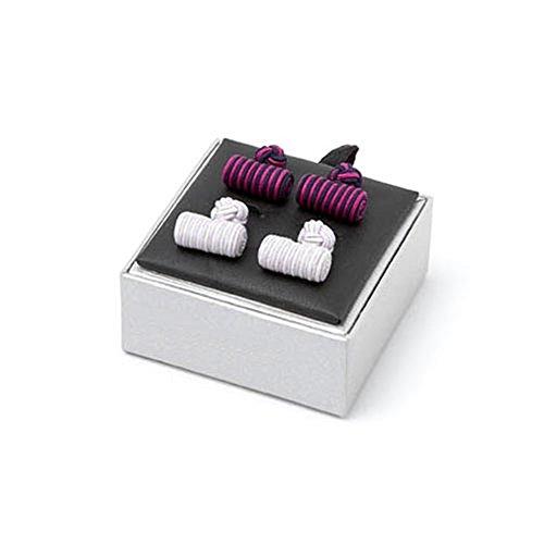 Silk Log Knot Cufflinks (Light Blue Knot Cufflink)