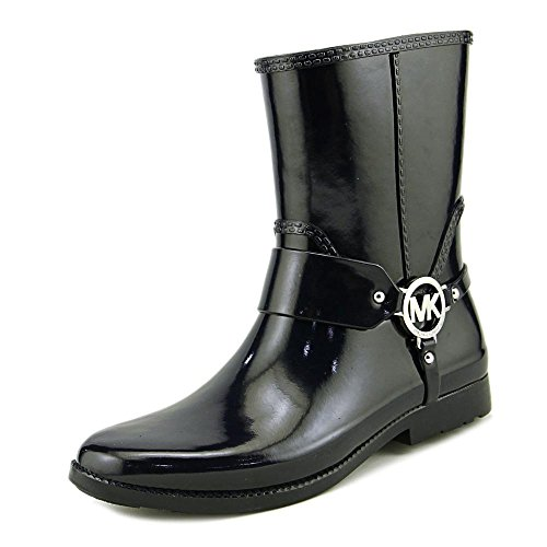 Rain Boots Designer (MICHAEL Michael Kors Women's Fulton Harness Rainbootie Admiral Rubber Boot 6 M)