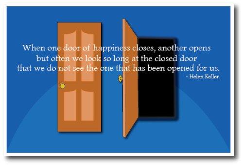 Doors - Helen Keller Quote - Classroom Motivational Poster