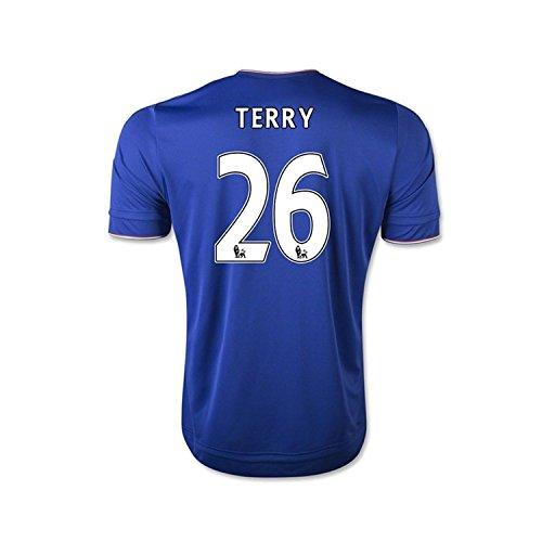 汚物苛性アーティストAdidas Terry #26 Chelsea Home Soccer Jersey 2015(Authentic name and number of player)/サッカーユニフォーム チェルシーFC ホーム用 テリー 背番号26 2015